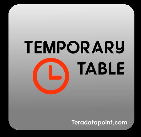 Temporary Table in Teradata
