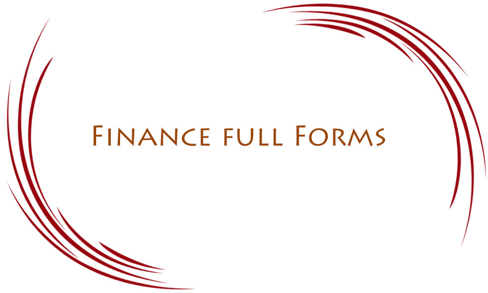 Finance Full Forms