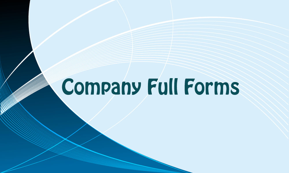company full forms